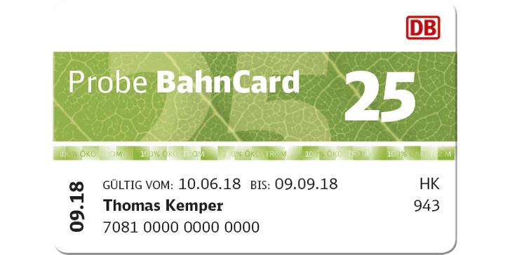 BahnCard 25 / 50 / 100 für 3 Monate zur Probe ab 19,90€