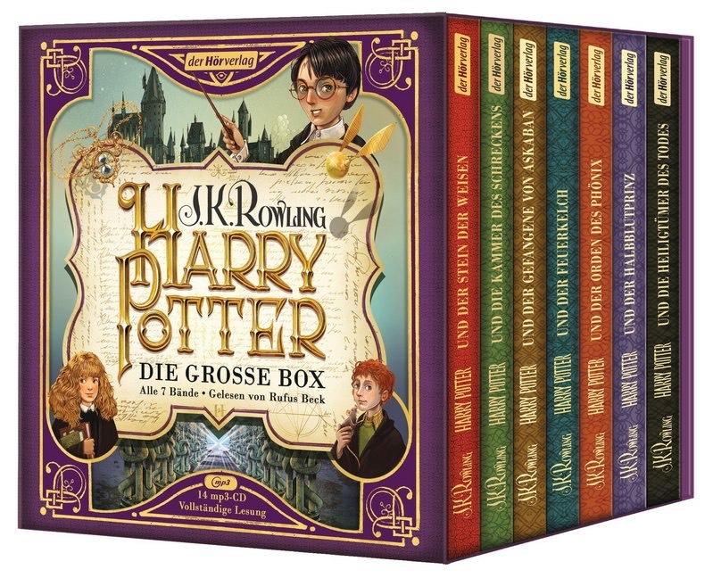 """Harry Potter Hörbuch alle 7 Bände """"Die große Box zum Jubiläum"""" gelesen von Rufus Beck [MP3 CD]"""