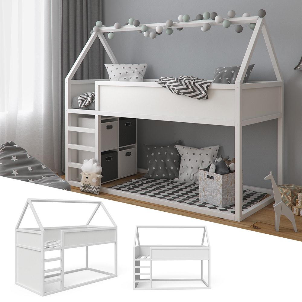 VitaliSpa Haus Hochbett Pinocchio - Spielbett Hausbett Kinderbett