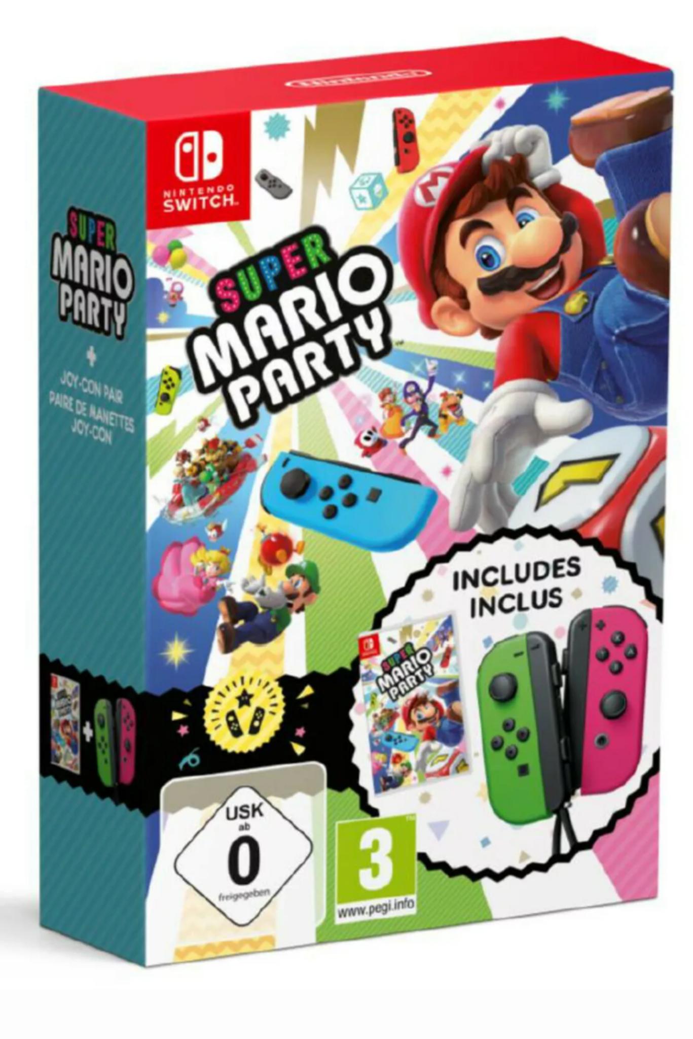 Joy Con Bundle + Super Mario Party Nintendo Switch