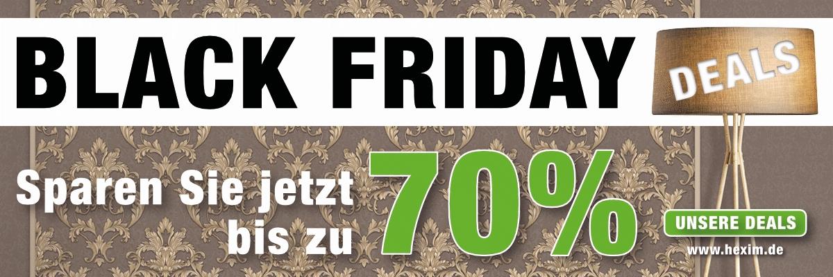 Black Friday - Stark reduzierte Artikel für Innenarchitektur wie z. B. Vliestapeten, Zierleisten, Vynilböden uvm.