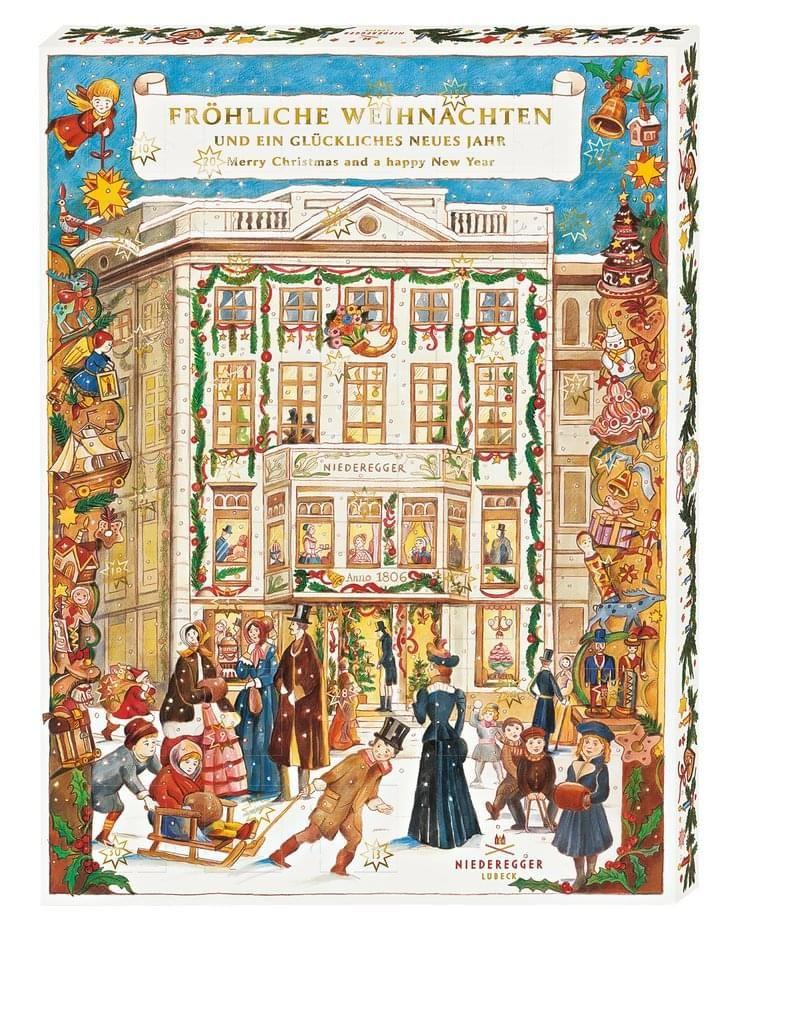 Schoko - Adventskalender (Lindt / Niederegger) bei Real zum halben Preis