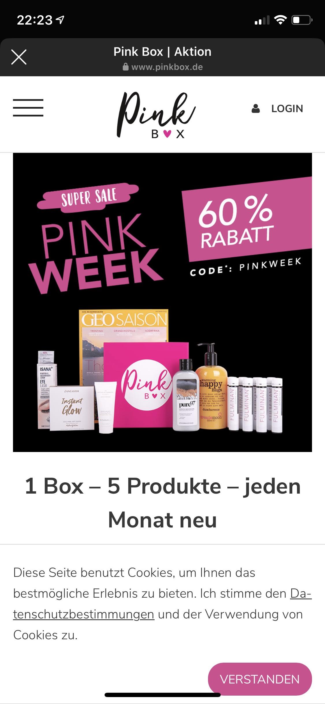 Beautybox Pink Box mit 60% Rabatt