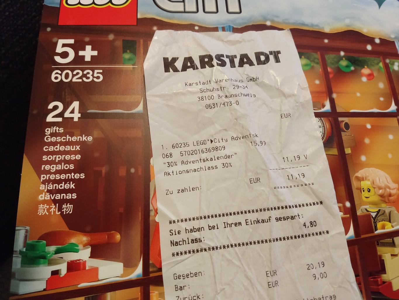 [Lokal Braunschweig Karstadt] LEGO City Adventskalender 60235