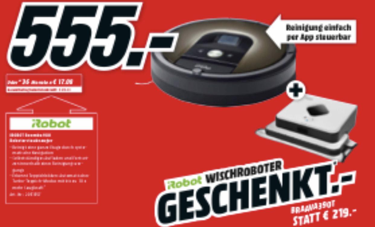 [MediaMarkt] iRobot Roomba 980 + iRobot Braava 390t für 555€