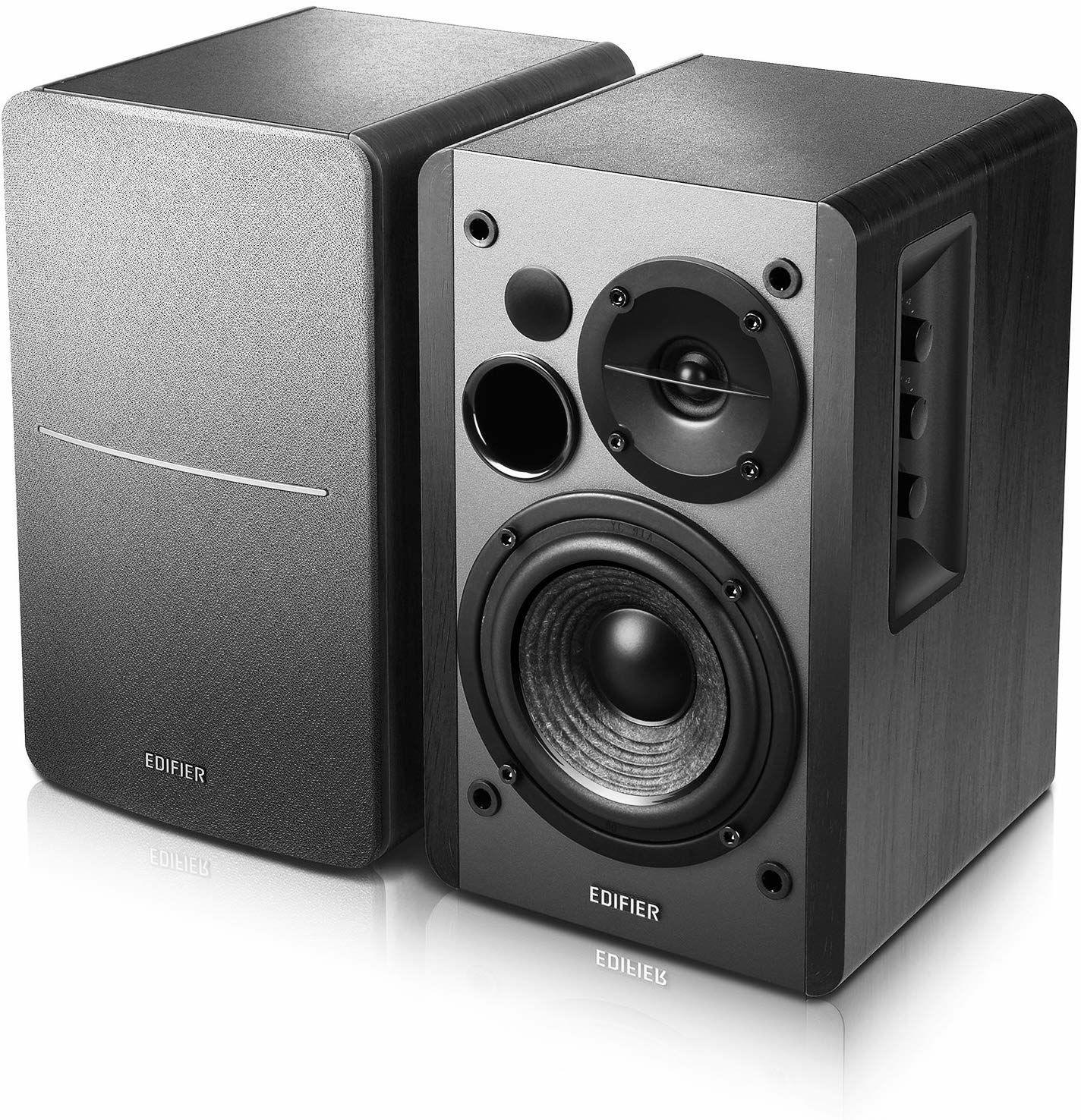 Edifier R1280DB: 2.0 Lautsprecher-System (2x 21W RMS, 10,16cm Tieftöner, Bluetooth, IR Fernbedienung, 2x RCA)