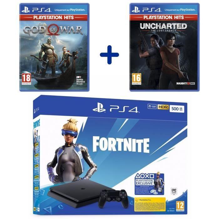 PS4 500GB Fortnite Bundle + God of War + Uncharted Lost Legacy für 219,99€ und weitere Bundles (Cdiscount)