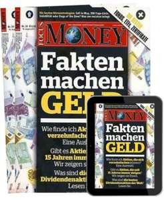 FOCUS Money Abo (30 Ausgaben print + digital) für 109,20 € mit 90 € Verrechnungsscheck