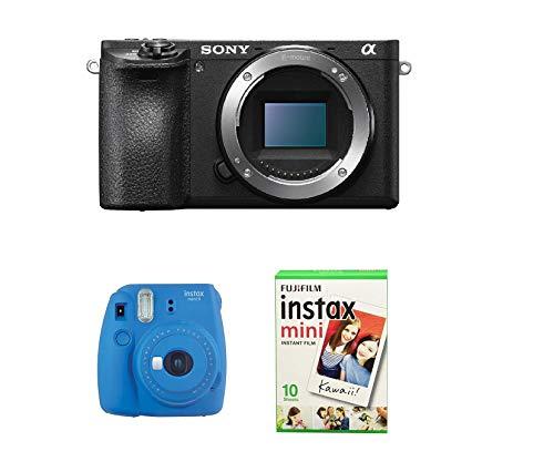Sony Alpha 6500 + Instax Mini 9 Cobalt Blue + 10 Sofortbilder