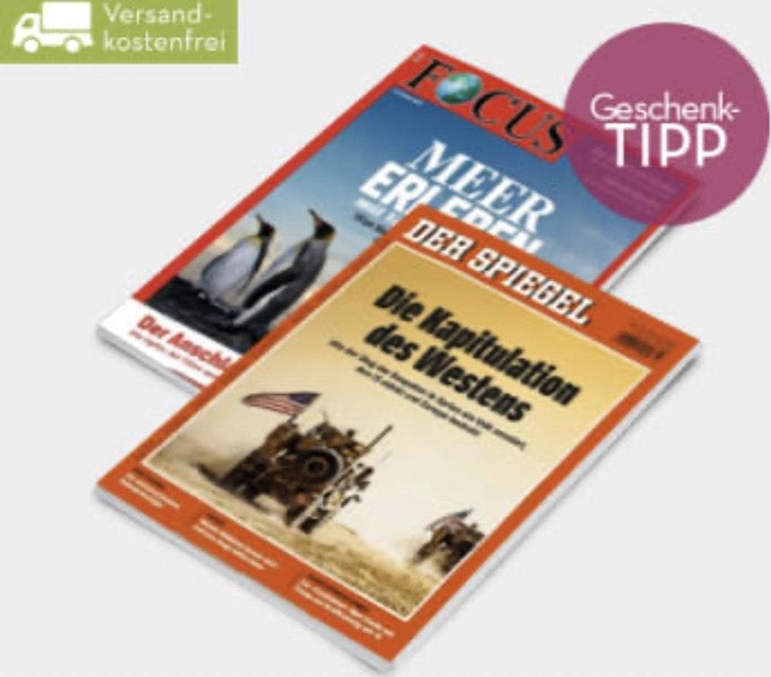Der Spiegel Halbjahresabo Print (1,40 € / Ausgabe) über burdadirect - Kündigung notwendig - (Focus Jahresabo für 28,90)