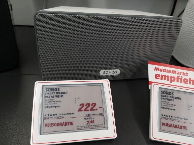 Lokal Böblingen MM Sonos Play 3 Weiß