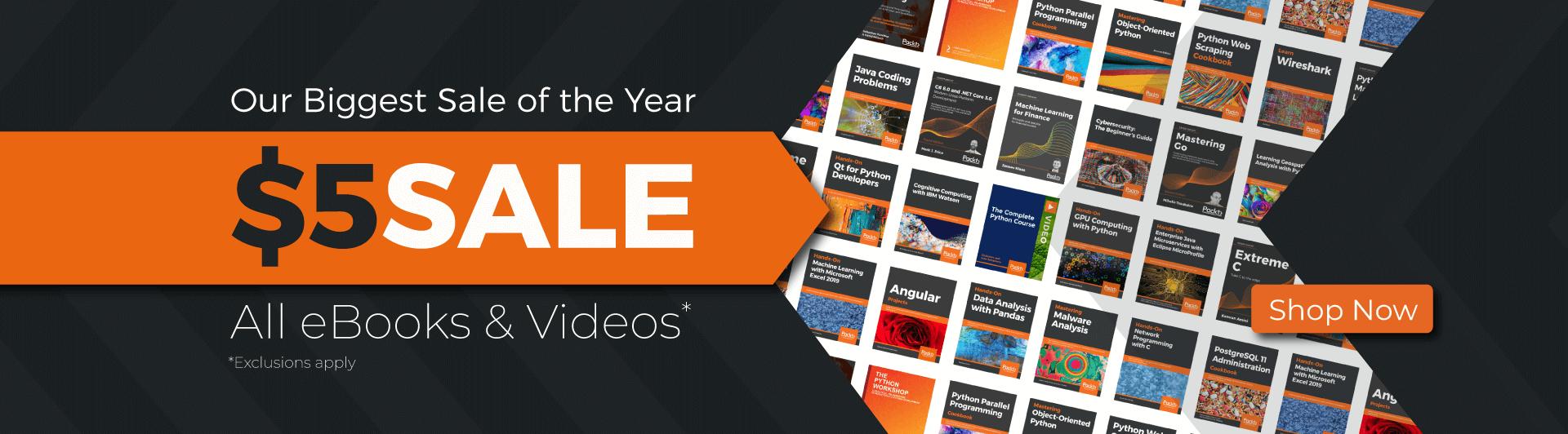 [Packt Publishing] (Fast) jedes Ebook für 5$