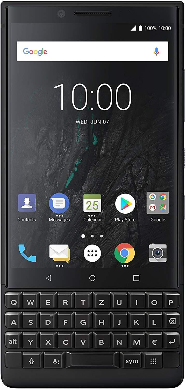 BlackBerry Key2 Single SIM Smartphone (4,5 Zoll Display, 12 Megapixel Kamera, LTE, 6 GB RAM, 64 GB Speicher, Android 8.1 Oreo) [Amazon]