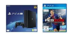 Playstation 4 Pro 1TB inkl. PES 2018 oder Destiny 2