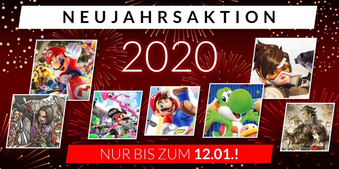 Neujahrsaktion Nintendo Switch eShop bspw. Super Mario Party für 40€