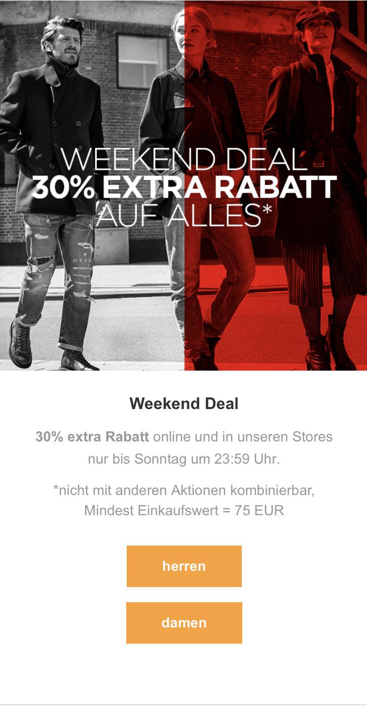 G-Star RAW Outlet 30% auf alles MBW 75€