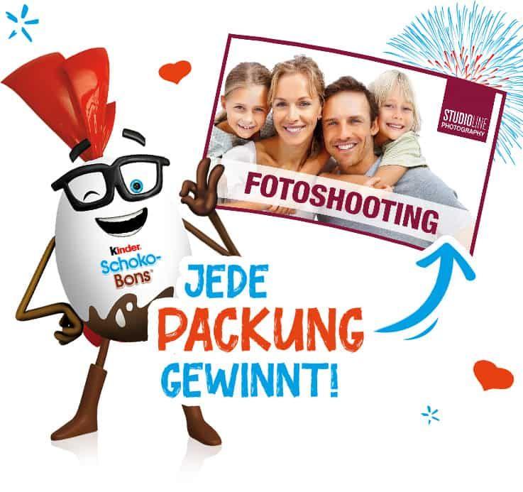Kindertime (Ferrero) Gemeinsam mehr erleben Fotshooting Gutschein im Wert von 39 € + Gewinnchance!
