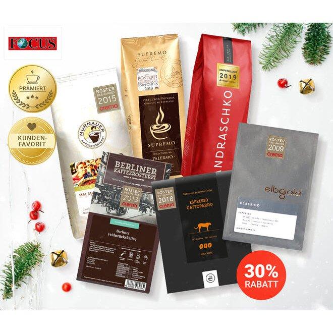 Kaffee/Espresso-Testsiegerpaket bei roastmarket mit 30% Rabatt