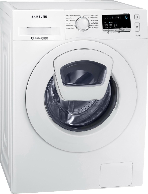 Waschmaschine Samsung WW80K4420YW/EG (A+++, 8kg, 1400 U/min, AddWash, AquaStop, Edelstahl-Schontrommel, Digital Inverter Motor, App)