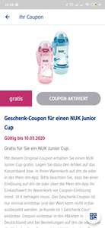 [dm App personalisiert] Gratis NUK Junior Cup (10€ MBW)
