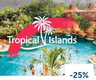 25% Rabatt auf den Tageseintritt ins Tropical Islands mit der Lidl Plus App