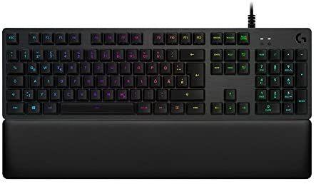 Logitech G513 mechanische Gaming-Tastatur (mit RGB Tastenbeleuchtung und linearen Romer-G Tasten-Switches, Carbon) [Amazon]