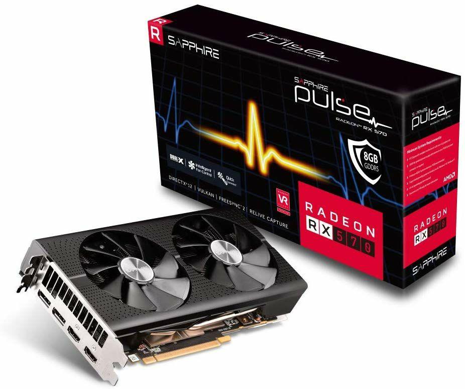 Sapphire AMD Radeon RX 570 Pulse 8 GB GDDR5 Grafikkarte (256 Bit, 4096 x 2160, PCI Express X16 3.0, 2x Display Port, 2x HDMI)
