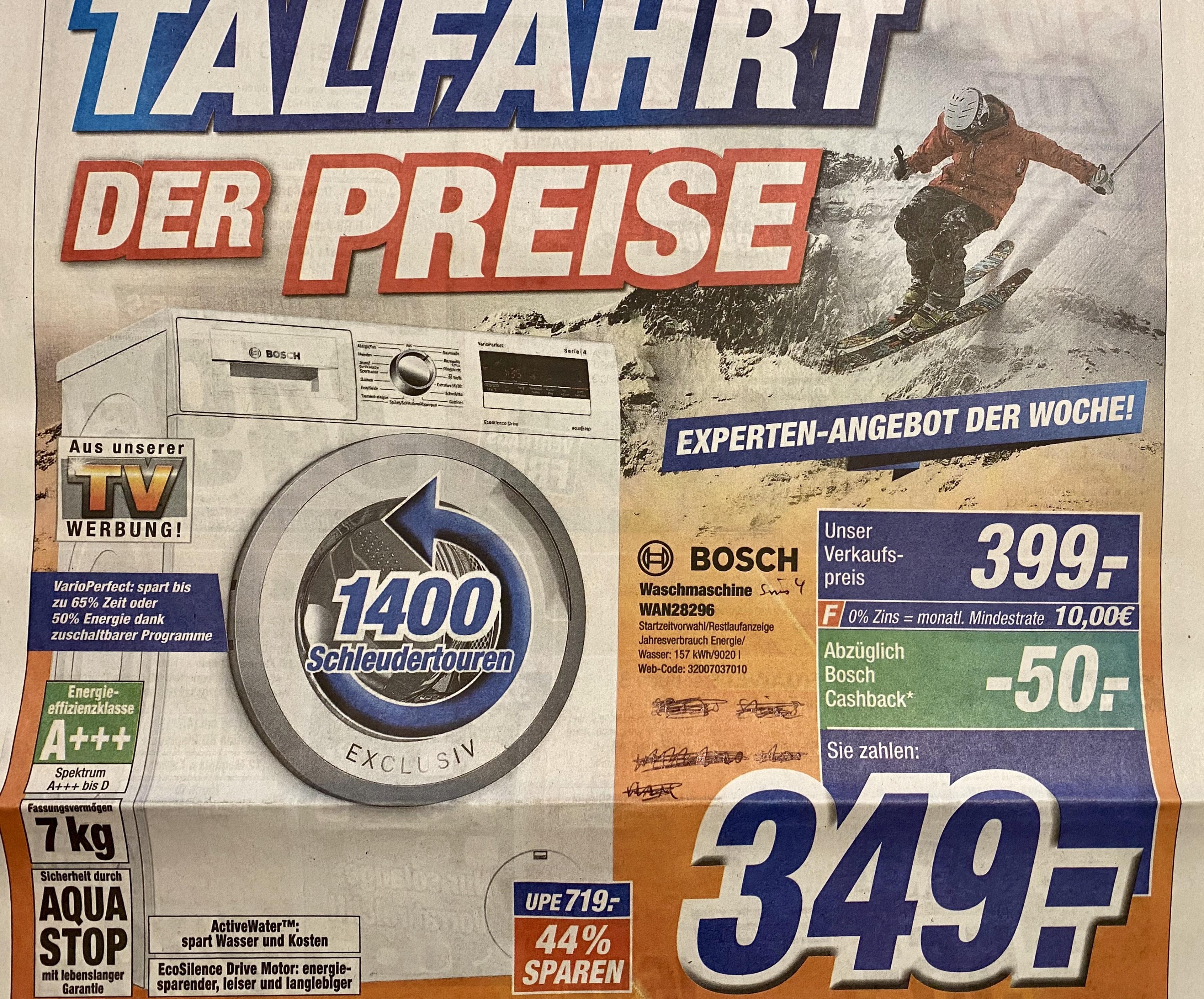 Bosch Waschmaschine Serie 4 WAN28296