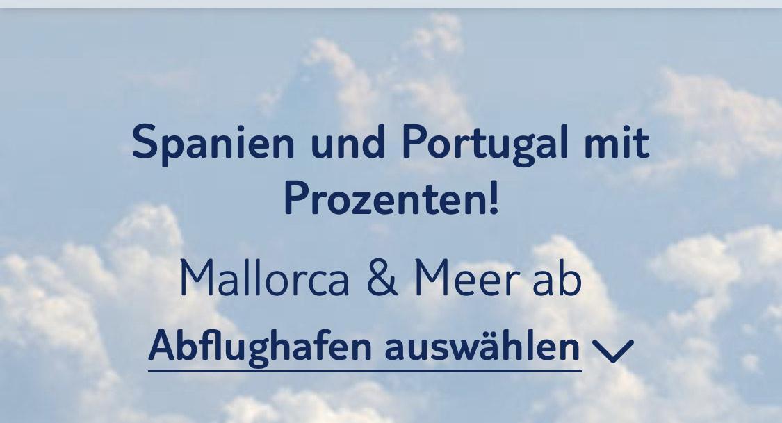 33 % bei Tuifly für Flüge nach Spanien/Portugal