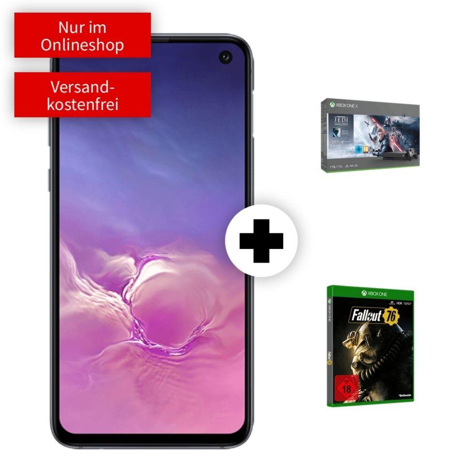 Samsung Galaxy S10e + Xbox One X Star Wars und Fallout 76 im Debitel Vodafone (26GB LTE 50Mbit) mtl. 24,99€ einm. 99€