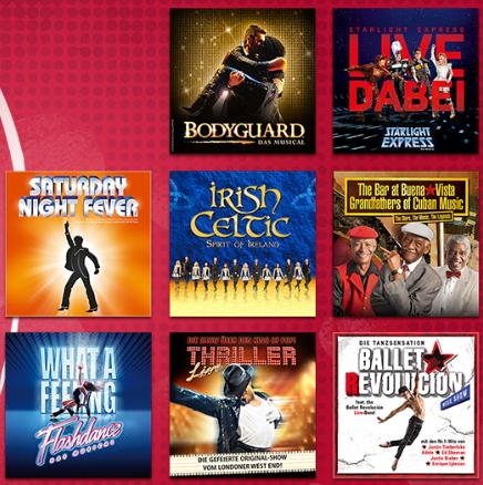 BB Promotion Musicals: 2 Tickets ab 99 € Starlight Express, Saturday Night Fever, Thriller, Irish Celtic, Bodyguard, Flashdance, Buena Vista
