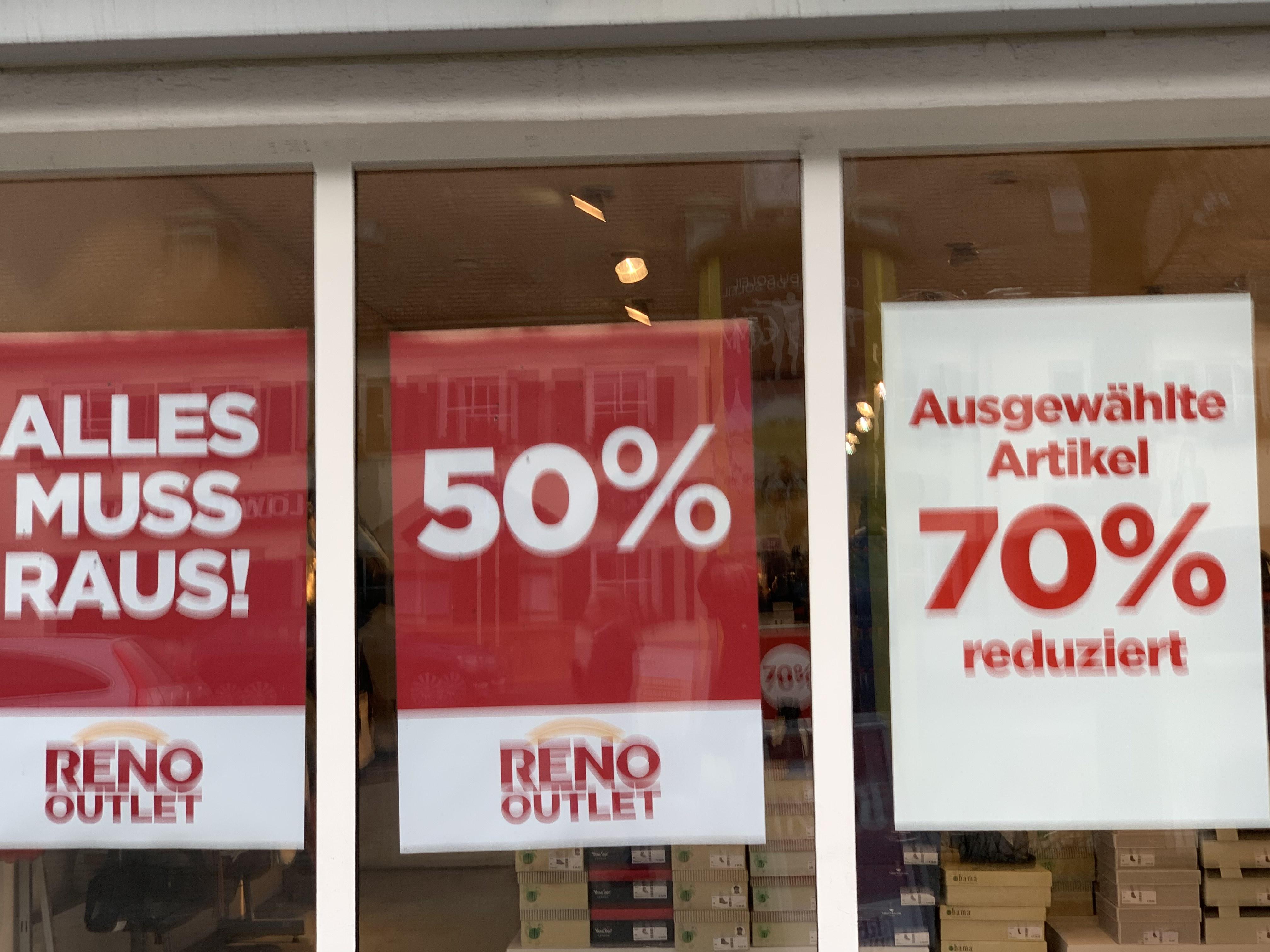 (Lokal) München Trudering Reno Schuhe 50% -70%