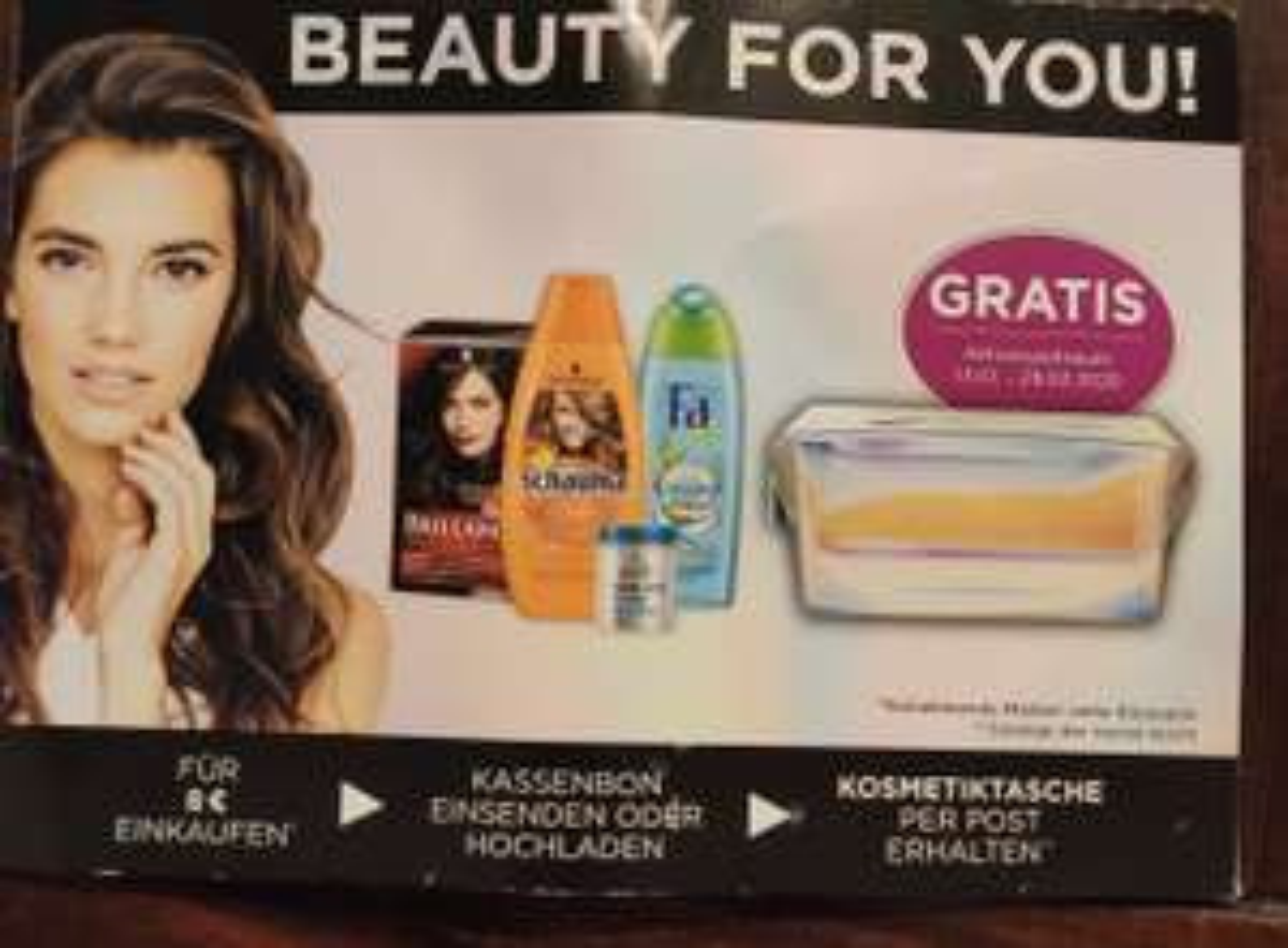 Edeka Beauty for You!!! Gratis Kosmetiktasche. Für 8 Euro Schauma,Fa,Nature Box, Schwarzkopf,Syoss kaufen