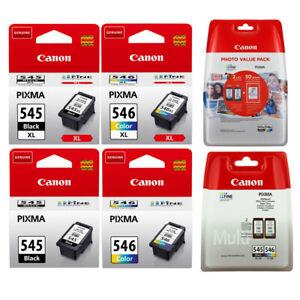 (eBay) Original Canon TINTE PATRONEN PG-545 + CL-546 XL PIXMA MG2550 MG2555 MX494 MX495