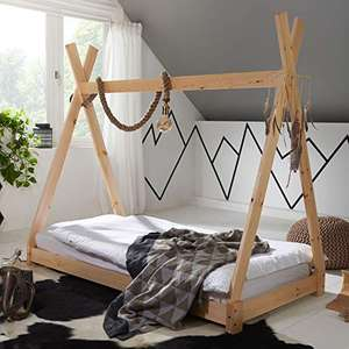 Kinderbett mit Lattenrost 160 x 80 cm Kiefer