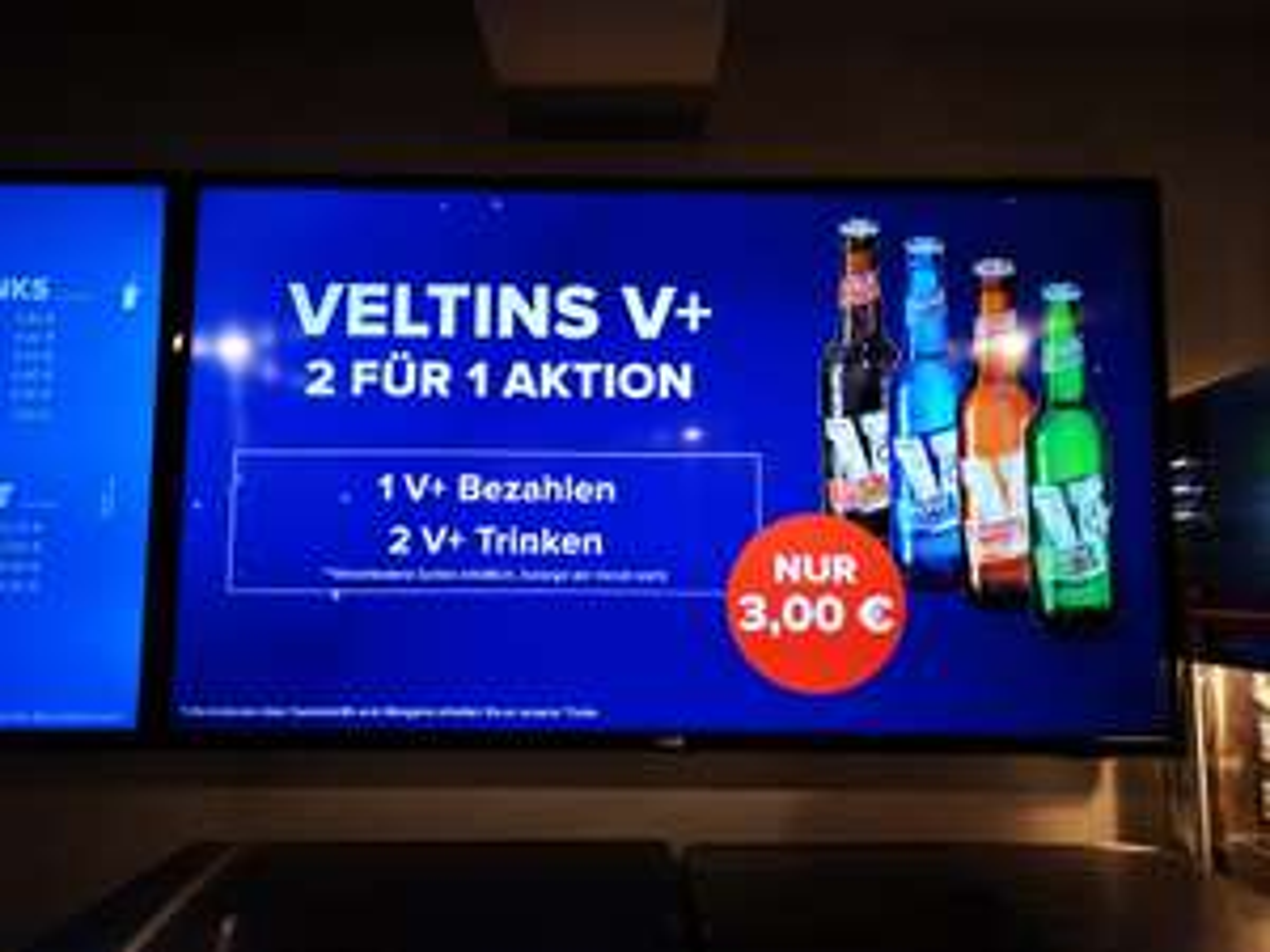 [Lokal? Cineplex Saalfeld/Rudolstadt] Ausverkauf: 2 Veltins V+ zum Preis von einem