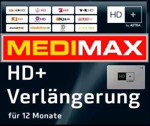 HD+ Verlängerung für 40€ (mit MEDIMAX-Gutschein)