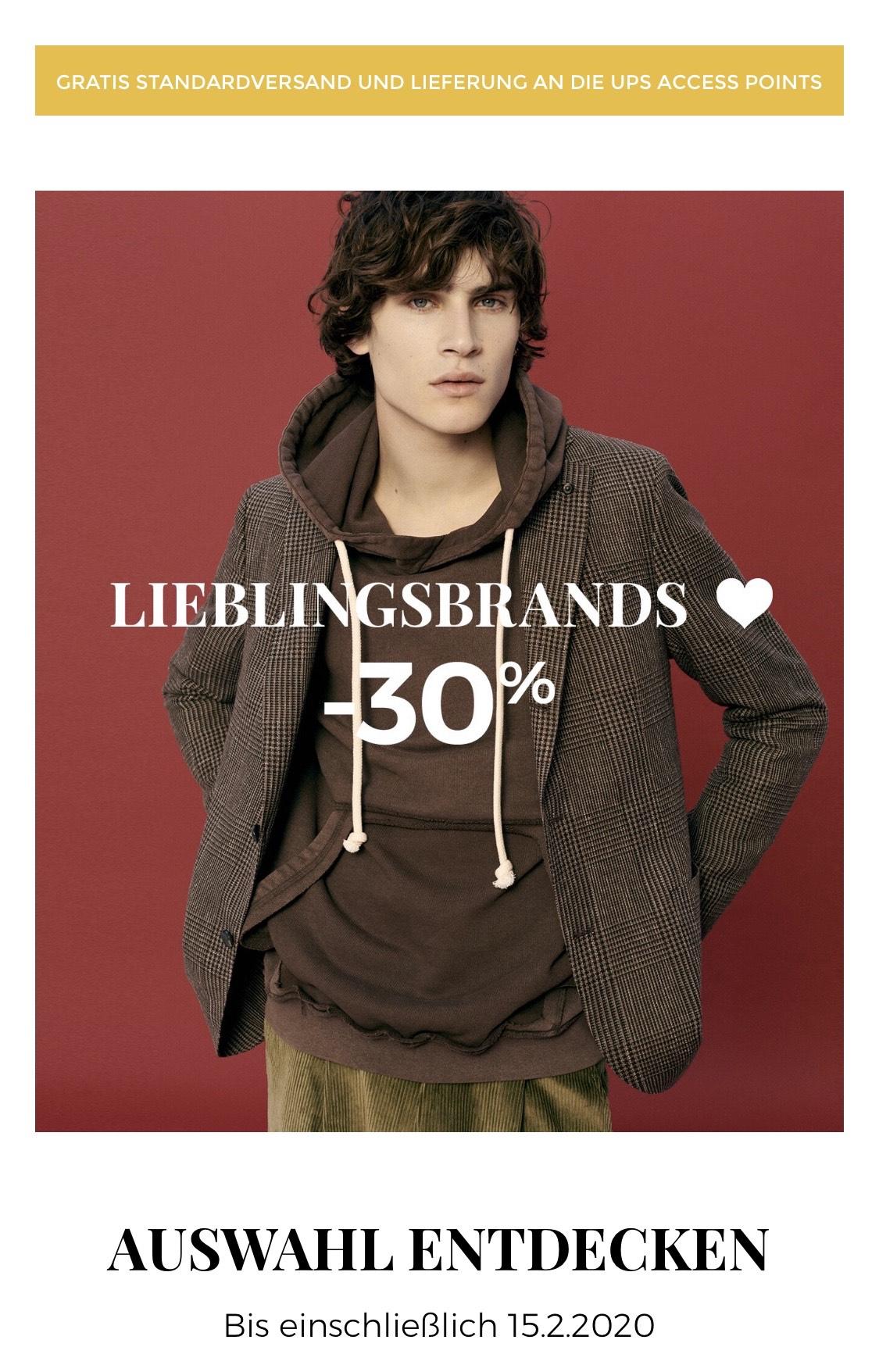 LIEBLINGSBRANDS -30% - z.B. Einfarbiges Hemd von JIL SANDER