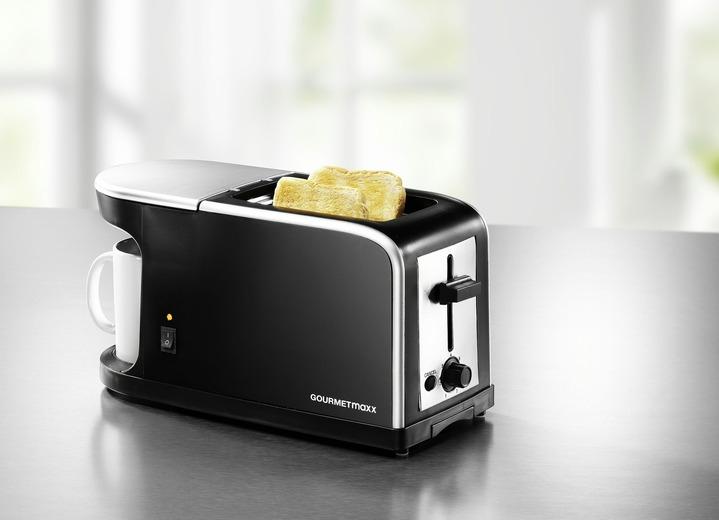 Gourmetmaxx Frühstückscenter Toaster + Kaffeemaschine bei Bader