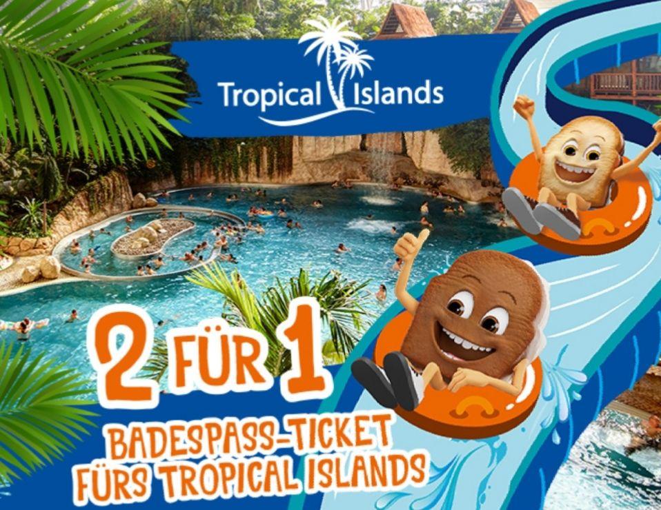 2 für 1 Aktion Tropical Islands Brandt mini Zwieback