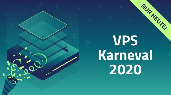 Netcup VPS Karneval 2020: 2 Cores, 4GB RAM, 160GB SSD RAID10