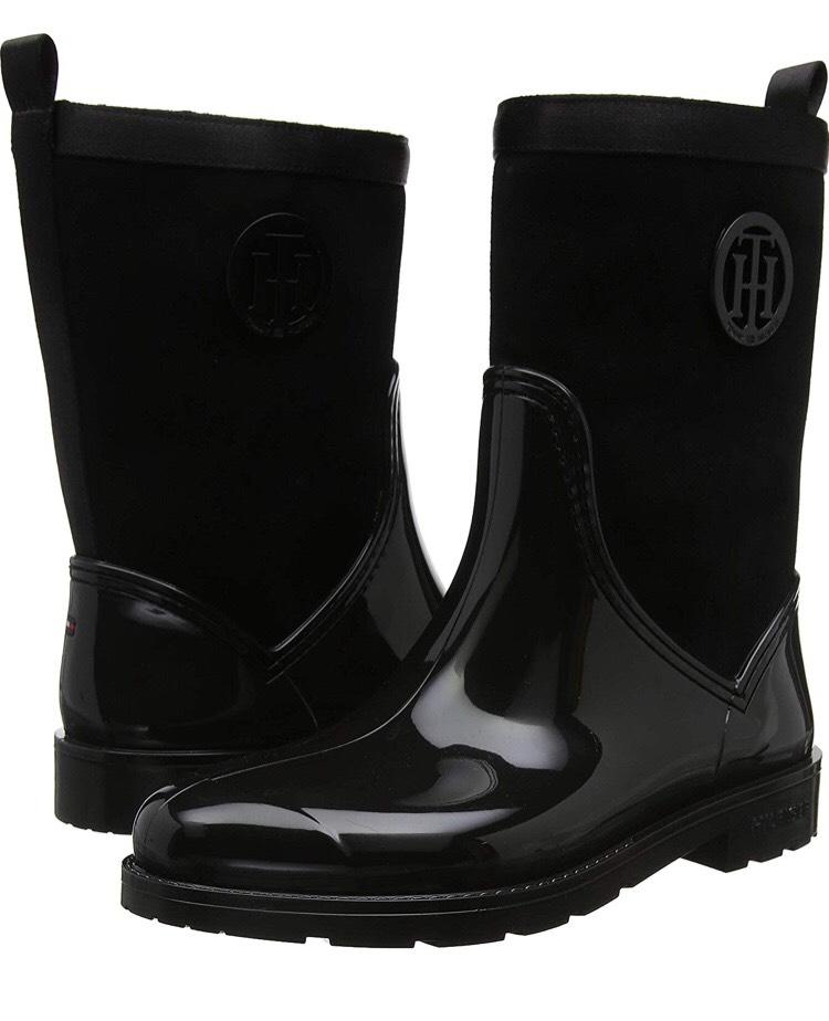 Tommy Hilfiger Damen Gummistiefel (Warmlined Suede Rain Boot)