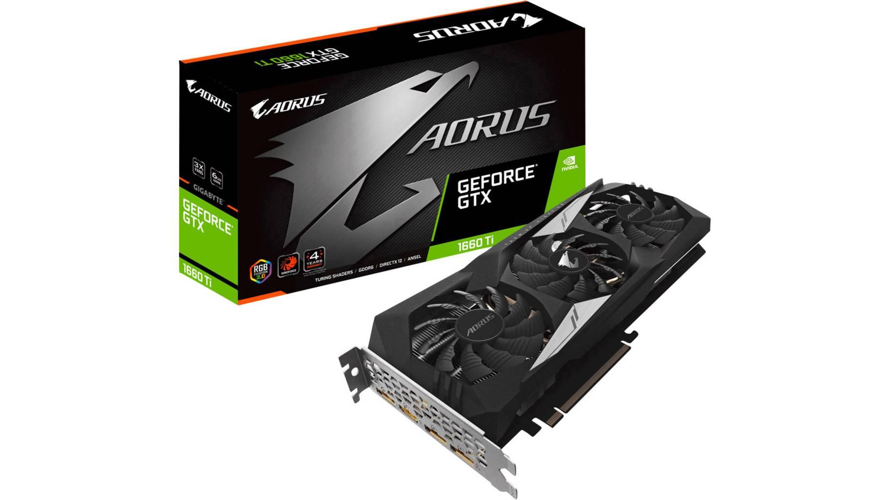 Gigabyte Aorus GeForce GTX 1660 Ti 6G 6GB GDDR6 (GV-N166TAORUS-6GD)