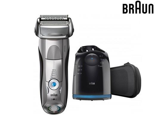 Braun Elektrischer Rasierer Series 7 7790cc (Mit Reinigungs- und Ladestation + Reise-Etui) [iBOOD]