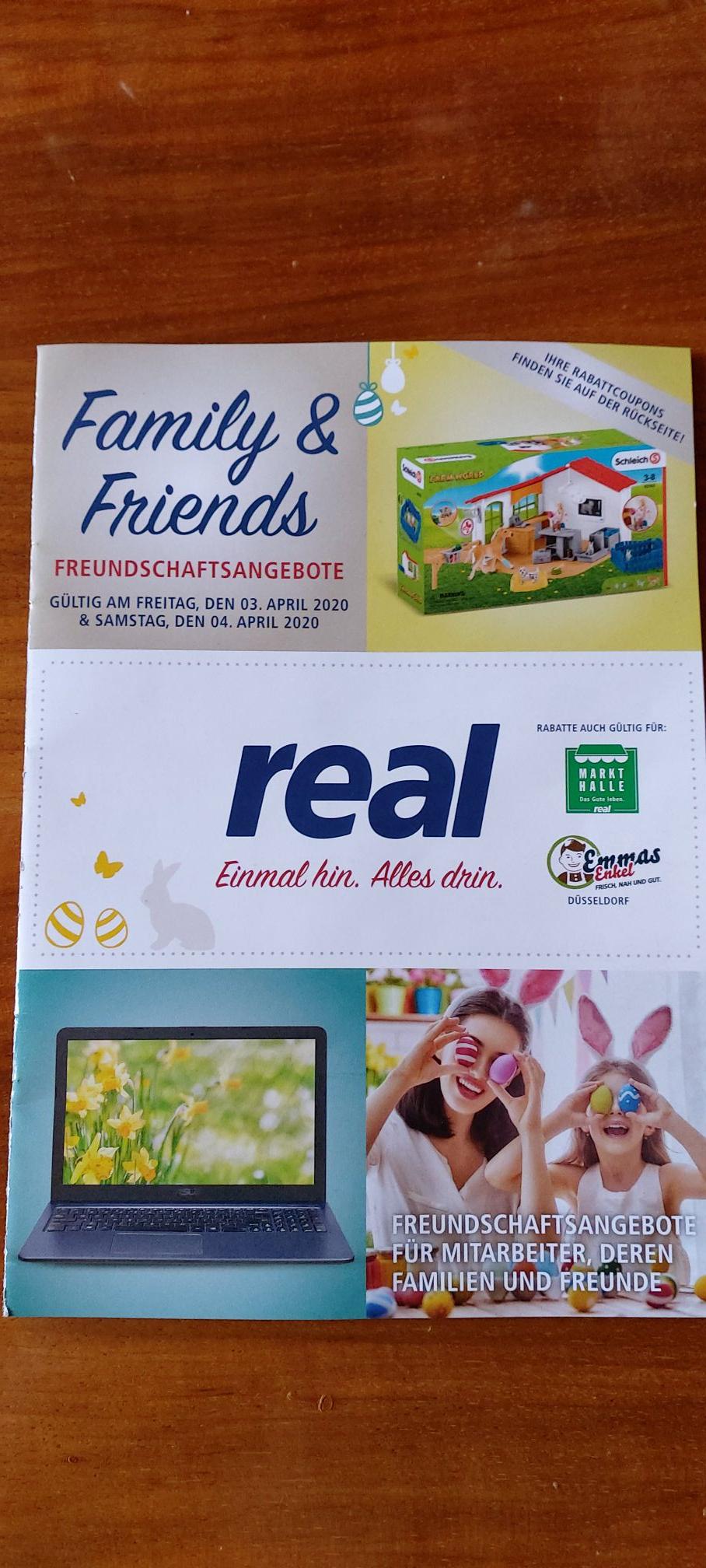 Real - Family & Friends 03.04.2020 und 04.04.2020 (19% Elektronik / 30% Spielwaren)