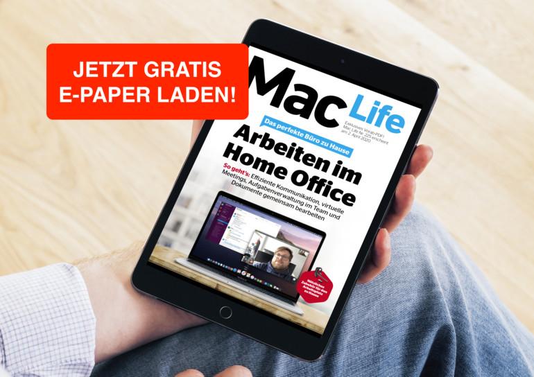 """Gratis Download PDF """"Arbeiten im Home Office"""" vom MacLife (speziell für Apple-User)"""