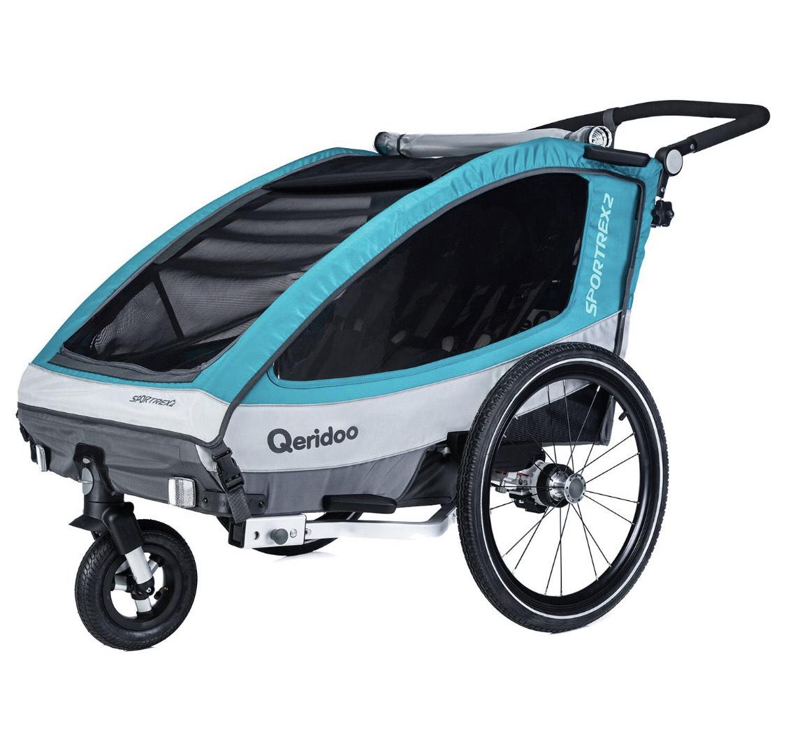 Kinderfahrradanhänger Qeridoo Sportrex 2 (2019) für 333,95€ inkl. Versand