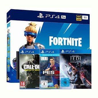 PS4 Pro 1TB Fortnite + Star Wars JFO + CoD Infinite Warfare + PES 2018 im Vodafone Otelo (10GB LTE, 50€ RNM) mtl. 19,99€
