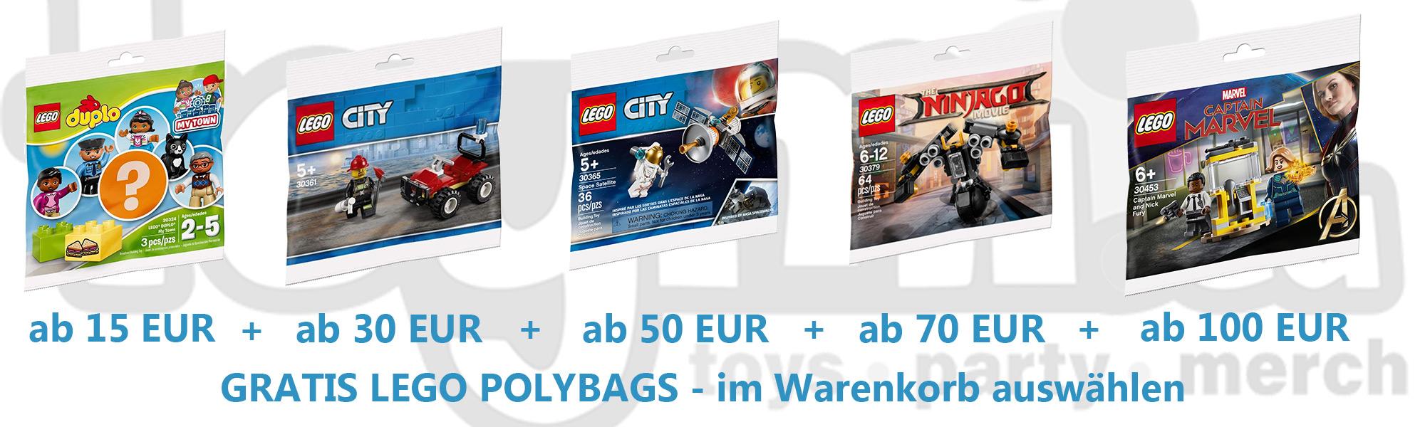 [Toymi.eu] Gratis Lego Polybag ab 15€ Staffelung bis 5 Polybags bei 100€