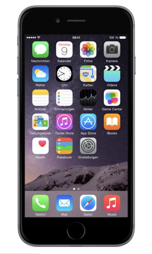 iPhone 6 Space Grey, 16gb bei Galaxus